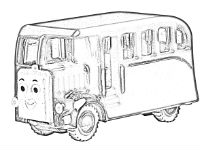 Bertie the bus coloring page