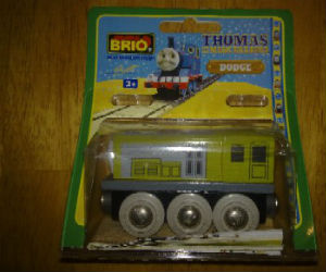 Wooden BRIO Dodge train