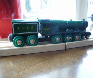 Wooden BRIO Flying Scotsman engine