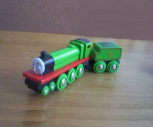 Wooden BRIO Henry engine