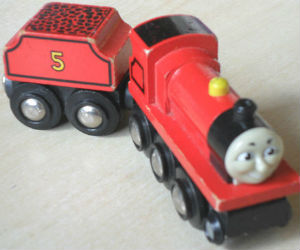 Wooden BRIO James engine