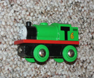 Wooden BRIO Percy engine