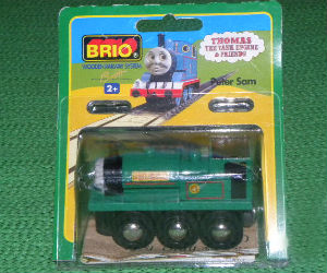 Wooden BRIO Peter Sam engine