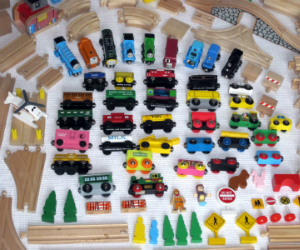 Lot of BRIO Thomas trains and tracks