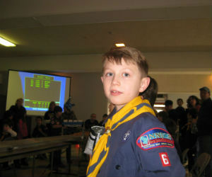 Charles at his first pinewood derby race