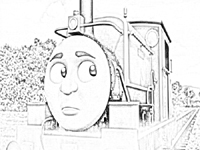 Free Charlie train coloring page