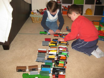 Collecting Thomas and Friends trains