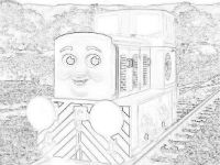 Dart the diesel coloring page