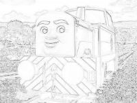 Den the diesel coloring page