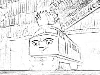 Diesel 10 coloring page Day of the Diesels