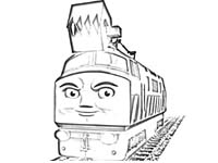 Diesel 10 coloring pages Coloring pages with Diesel 10 Thomas
