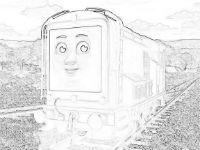 Diesel coloring page