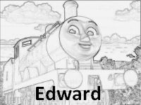Free Edward coloring page