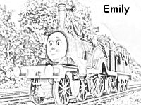 emily tank engine coloring pages - photo#9