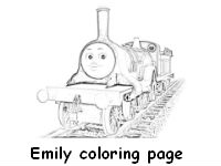 Emily the train coloring page