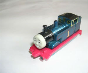 Metallic Thomas diecast ERTL train