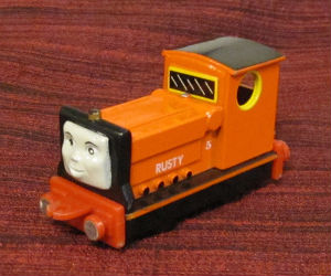 Rusty diecast ERTL train