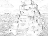 Fiery Flynn the fire engine coloring page