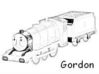 Thomas coloring pages gordon coloring page for Spencer the train coloring pages