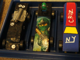 Most creative pinewood derby car recognition