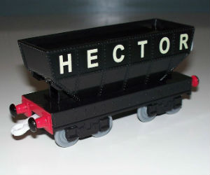 Hector the coal hopper plastic train