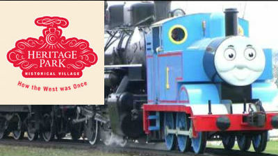 Heritage Park Historical Village with Thomas the tank engine