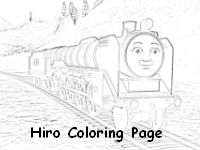 Hiro in the countryside coloring page