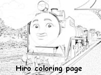 Hiro at the station coloring page
