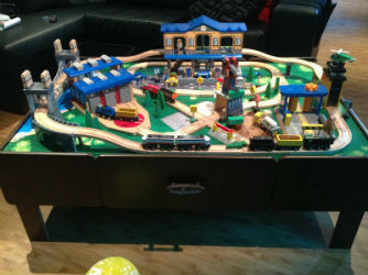 100 piece imaginarium wooden train table