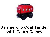 James # 5 Coal Tender with Team Colors recall