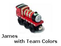 James with Team Colors recall