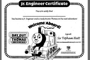 Jr. Engineer Certificate Day Out With Thomas 2011