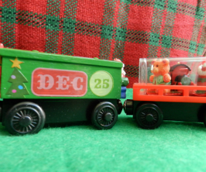 Hand made Memory Keeper wooden trains Christmas Toys