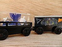 Memory Keeper Hanukkah wooden train