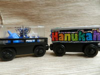 Hannukah custom wood trains