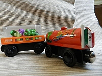 Memory Keeper Mexican Fiesta wooden train