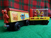 Memory Keeper Sesame Street wooden train