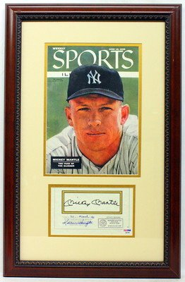 mickey mantle signed magazine