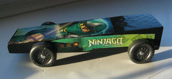 The Green Ninja Pinewood Derby Car by Charles 2013