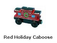 Red Holiday Caboose