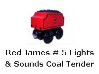 Red James # 5 Lights & Sounds Coal Tender