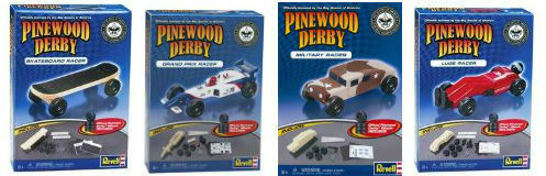 On sale Revell Pinewood Derby cars