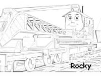 Rocky the crane coloring page