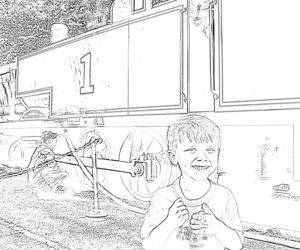 Sample of Adam and Thomas coloring page
