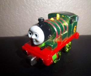Take Along Metallic Percy diecast engine