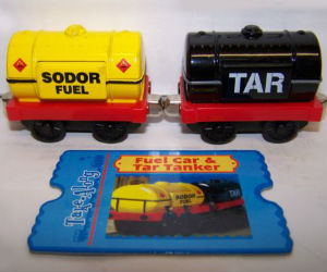 Take Along Tar car and oil tanker diecast vehicles