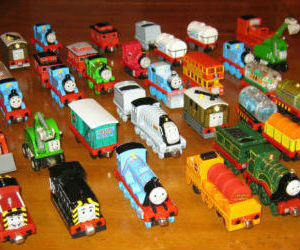 Take Along Thomas Log of diecast trains