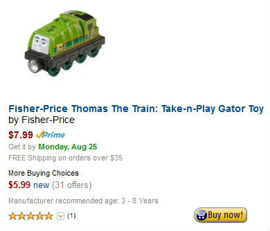 Fisher-Price Thomas The Train: Take-n-Play Gator Toy