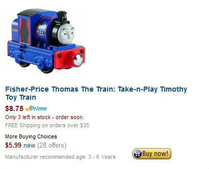 Take n play Timothy on sale