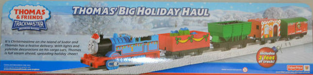 Trackmaster Christmas Thomas with white snow tracks